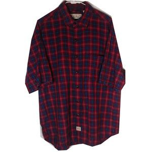 Vintage Levi Strauss Red Plaid Casual Button Down